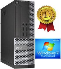 Dell 7020 SFF i5-4670 8GB 240GB SSD 2TB HDD DVDRW Windows 7 Pro Dators cena un informācija | Stacionārie datori | 220.lv
