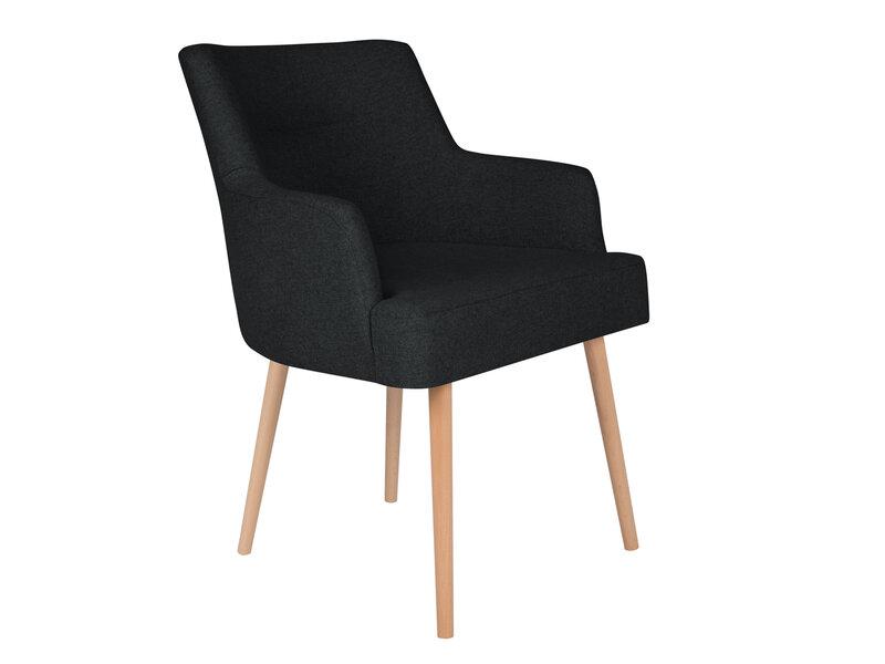 2-u krēslu komplekts Cosmopolitan Design Venice, melns