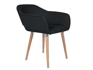 2-u krēslu komplekts Cosmopolitan Design Napoli, melns cena un informācija | Virtuves un ēdamistabas krēsli | 220.lv