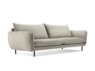Dīvāns Cosmopolitan Design Vienna 3S, smilškrāsas velūra cena un informācija | Dīvāni | 220.lv