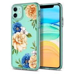 Spigen Ciel Iphone 11 vāciņš, Zils ar puķēm cena un informācija | Spigen Ciel Iphone 11 vāciņš, Zils ar puķēm | 220.lv
