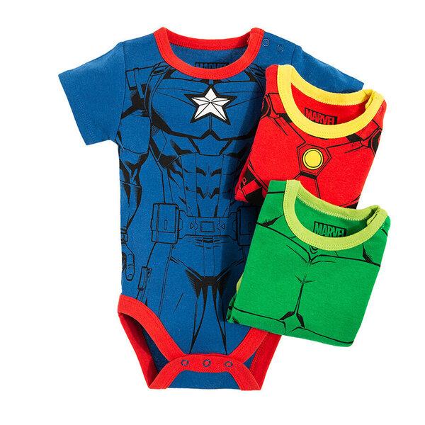 Cool Club bodijs īsām piedurknēm zēniem The Avengers, 3 gab., LUB2008890-00