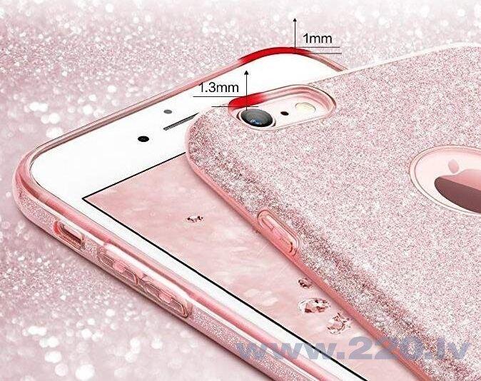 Wozinsky Glitter Case Shining Cover for iPhone XS Max pink (Pink) internetā
