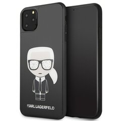 Karl Lagerfeld KLHCN65DLFKBK iPhone 11 Pro Max black hard case Iconic Karl Glitter (Black) цена и информация | Чехлы для телефонов | 220.lv
