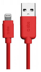 Lightning Data Cable And Cgarher Polo Collection 1m By SBS Red cena un informācija | Vadi un adapteri | 220.lv