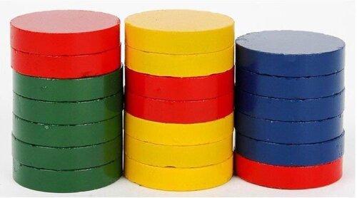 Magnēti 25mm, 20gab., krāsaini cena un informācija | Kancelejas preces | 220.lv