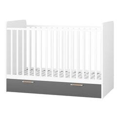 Bērnu gultiņa Selsey Bedie 70x140, balta/pelēka cena un informācija | Jaundzimušo gultas | 220.lv