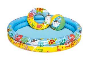 Piepūšamo ūdens rotaļu komplekts Bestway, zils/dzeltens cena un informācija | Baseini | 220.lv