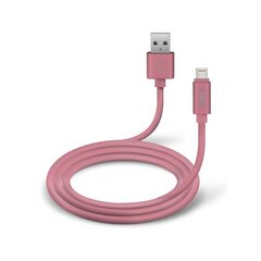 Lightning Data Cable And Cgarher Polo Collection 1m By SBS Pink cena un informācija | Vadi un adapteri | 220.lv