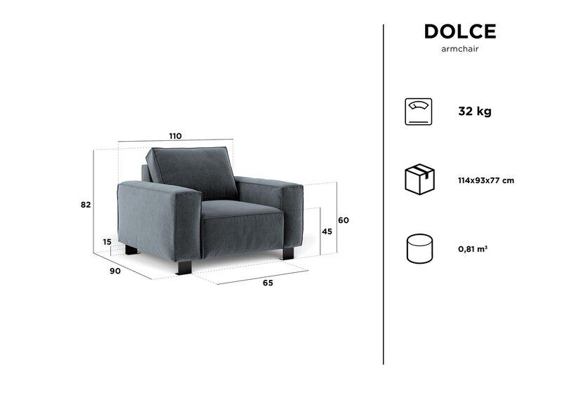 Krēsls Kooko Home Dolce, zils