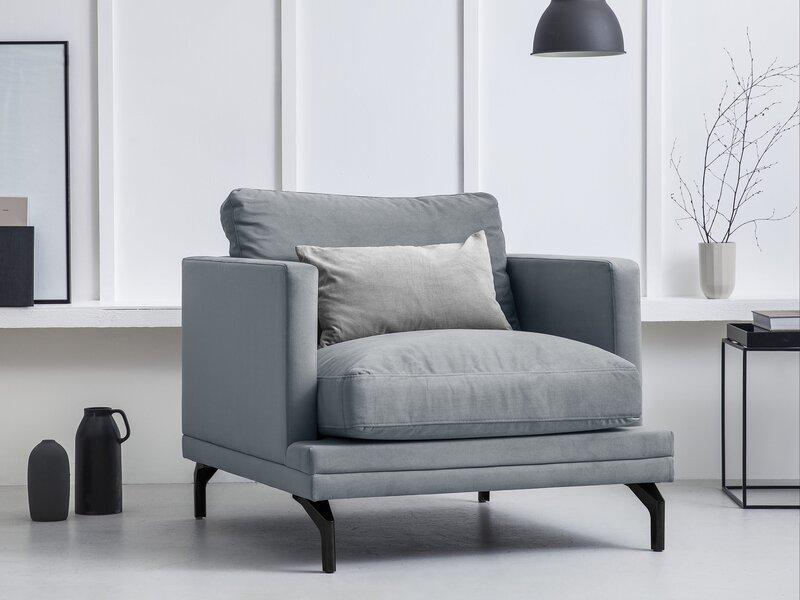 Krēsls Windsor and Co Jupiter, pelēks/melns