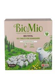BIOMIO Bio-Total 7in1 таблетки для посудомоечных машин с эфирным маслом эвкалипта 30 шт. цена и информация | Средства для мытья посуды | 220.lv