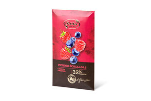 Piena šokolāde ar avenēm un mellenēm, 1x90g, kārb. cena un informācija | Saldumi | 220.lv