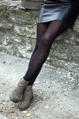 MILANA merino vilnas zeķubikses sievietēm, melnas cena un informācija | Zeķubikses | 220.lv