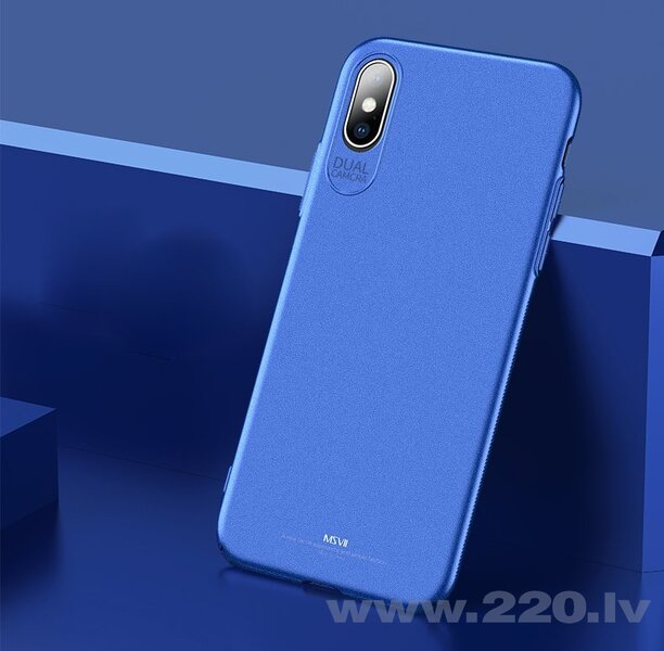 MSVII Simple Ultra-Thin Cover PC Case for iPhone XS Max blue (Blue)