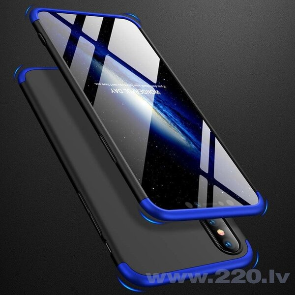 GKK 360 Protection Case Front and Back Case Full Body Cover iPhone XS Max black-blue (Black || Blue)