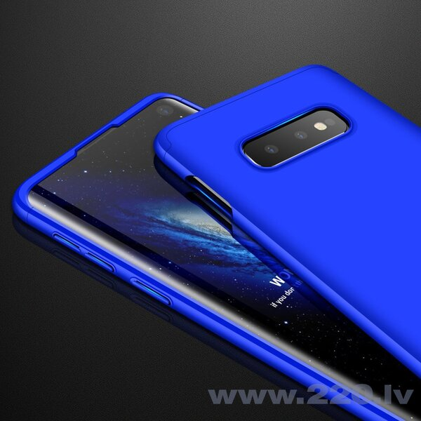 GKK 360 Protection Case Front and Back Case Full Body Cover Samsung Galaxy S10e blue (Blue) lētāk