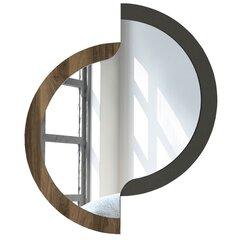 Spogulis Kalune Design Igero, brūns/melns cena un informācija | Spoguļi | 220.lv