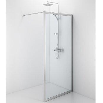 Dušas siena IFO Silver caurspīdīga 80x190 cena un informācija | Dušas durvis un sienas | 220.lv