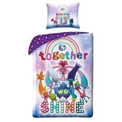 Bērnu gultas veļas komplekts Trolls, 140x200 cm, 2 daļas cena un informācija | Bērnu gultas veļa | 220.lv