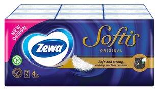 Vienreizlietojamie kabatlakatiņi ZEWA Softis Pocket 4 sl., 9x5 gab. cena un informācija | Vates kociņi, mitrās salvetes | 220.lv