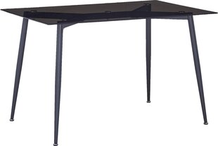 Pusdienu galds Escape,, brūns/melns cena un informācija | Virtuves un pusdienu galdi | 220.lv
