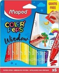 Flomāsteri stiklam ColorPeps 6gab. cena un informācija | Modelēšanas un gleznošanas piederumi | 220.lv