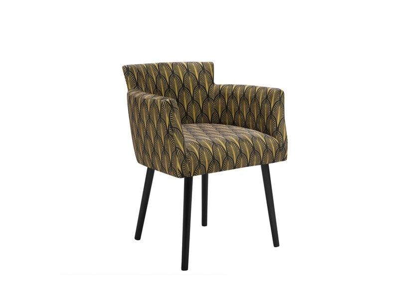 Krēsls Windsor and Co Gemini, melnas/zelta krāsas