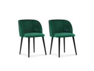 2-u krēslu komplekts Windsor and Co Aurora, tumši zaļš cena un informācija | Virtuves un ēdamistabas krēsli | 220.lv