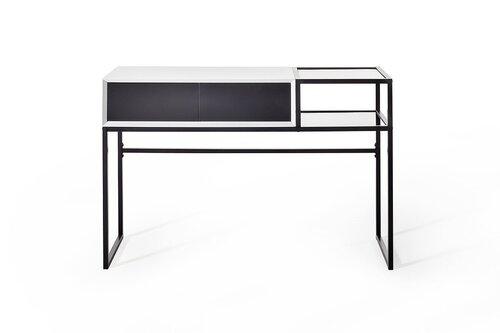 Konsole MC Akcent Kasan, balts/melns cena un informācija | Konsoles galdiņi | 220.lv