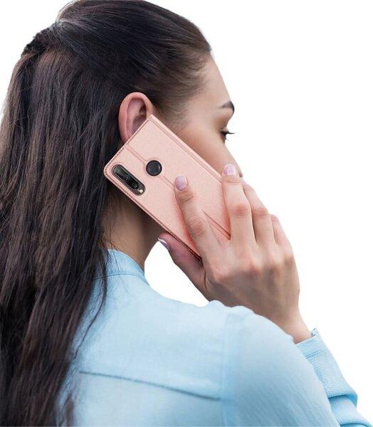Dux Ducis Premium Magnet Case piemērots Huawei P40 Lite E, Rozā cena