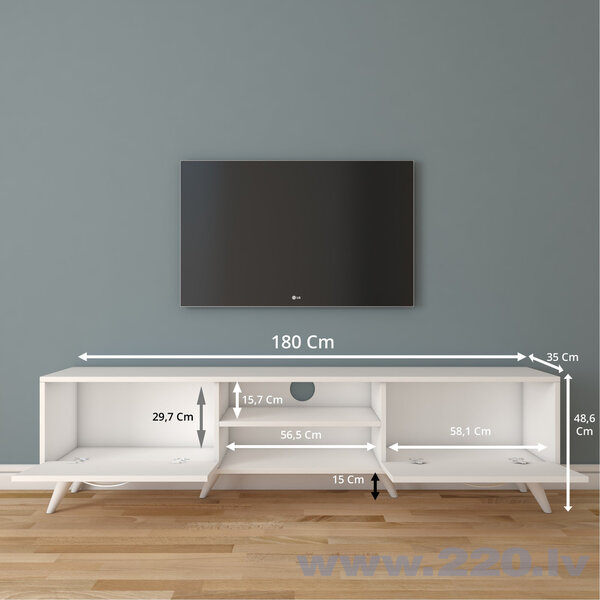 TV galdiņš Kalune Design A9, balts