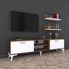 Sekcija Kalune Design A4, brūna/balta cena un informācija | Sekcijas | 220.lv