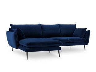 Stūra dīvāns Milo Casa Elio, zils/melns cena un informācija | Stūra dīvāni | 220.lv