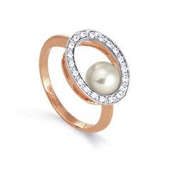 Zelta gredzens ar pērli 05TPZ000498 cena un informācija | Gredzeni | 220.lv