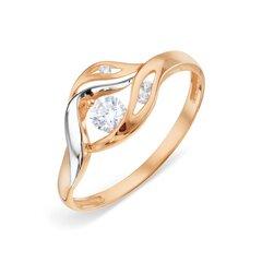 Zelta gredzens ar fianītiem 05TPZ000457 cena un informācija | Gredzeni | 220.lv