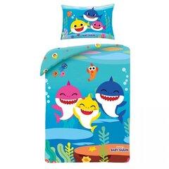Bērnu divpusējs gultas veļas komplekts Baby Shark, 100x135 cm, 2 daļas cena un informācija | Bērnu divpusējs gultas veļas komplekts Baby Shark, 100x135 cm, 2 daļas | 220.lv