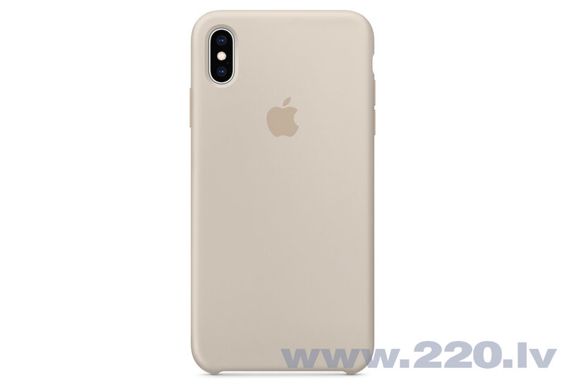 Apple iPhone XS Max Silicone Apvalks, Pelēks