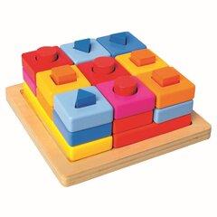 Attīstoša formu un krāsu spēle Bino, 29 d. cena un informācija | Zinātniskās un attīstošās spēles, komplekti radošiem darbiem | 220.lv