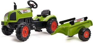 Pedāļu traktoru ar piekabi Falk Claas Arion 2041C, zaļš cena un informācija | Rotaļlietas zēniem | 220.lv