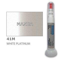 Krāsu korektors skrāpējumu korekcijai MAZDA 41M - WHITE PLATINUM 12 ml cena un informācija | Auto krāsas | 220.lv