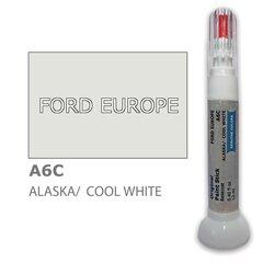 Krāsu korektors skrāpējumu korekcijai FORD EUROPE A6C - ALASKA/COOL WHITE 12 ml cena un informācija | Auto krāsas | 220.lv