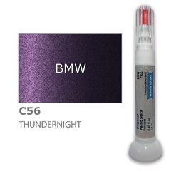 Krāsu korektors skrāpējumu korekcijai BMW C56 - THUNDERNIGHT 12 ml cena un informācija | Auto krāsas | 220.lv