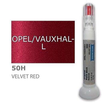 Krāsu korektors skrāpējumu korekcijai OPEL/VAUXHALL 50H - VELVET RED 12 ml cena un informācija | Auto krāsas | 220.lv