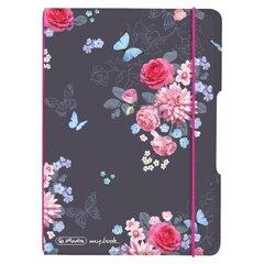 Piezīmju grāmata A6/40 kvadrātveida Ladylike Flowers cena un informācija | Burtnīcas un papīra preces | 220.lv