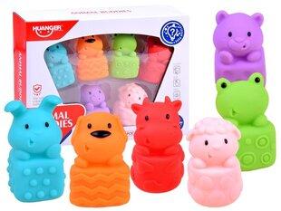 Gumijas vannas rotaļlietas, 6gab. cena un informācija | Gumijas vannas rotaļlietas, 6gab. | 220.lv