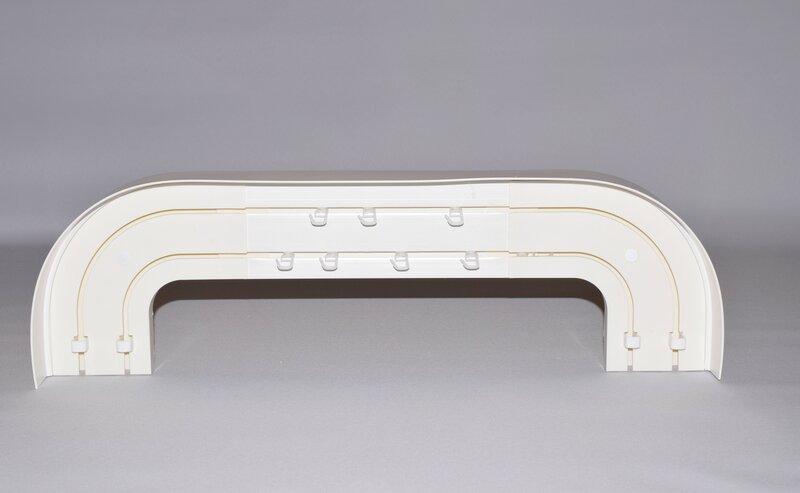 Griestu karnīze, 2 sliežu (komplekts) balts, 145 cm cena
