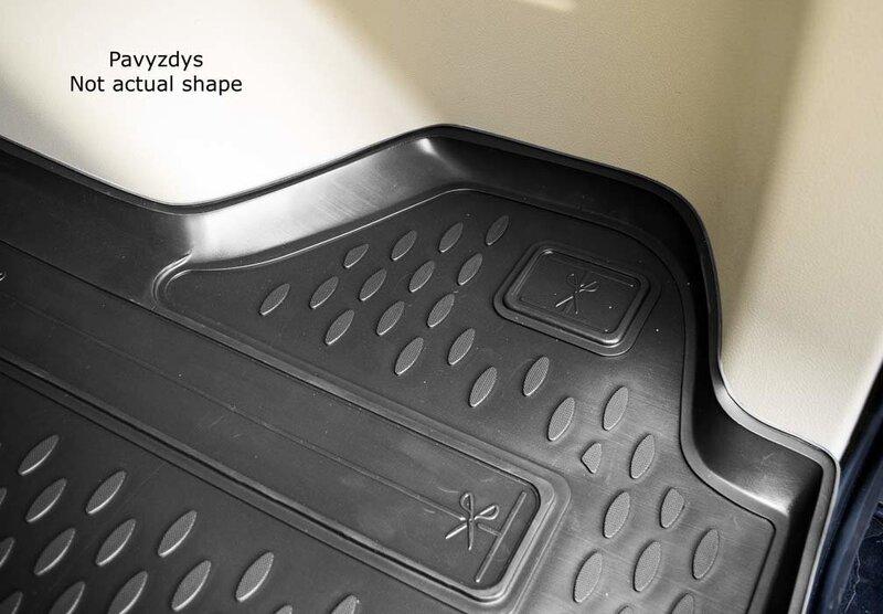 Bagāžnieka nodalījuma gumijas paklājs MERCEDES-BENZ E-class W210 sedan 1995-2002 melns /N25003 lētāk