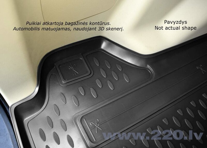 Bagāžnieka nodalījuma gumijas paklājs MERCEDES-BENZ E-class W210 sedan 1995-2002 melns /N25003