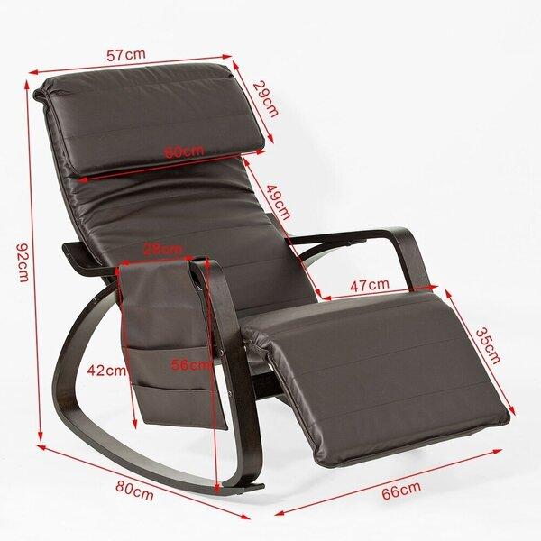Šūpuļkrēsls SoBuy FST20-BR, brūns cena